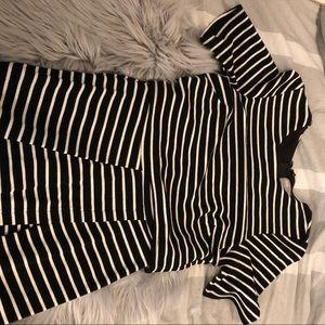Asos Black & White midi work dress